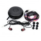 JBM MJ900 enchufe de 3.5mm In-Ear auriculares w / Micrófono para Samsung / HTC / Iphone - Negro