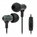 JBM MJ710 3.5mm Plug In-Ear Earphone w/ Microphone for Samsung / HTC / iPhone - Iron Grey