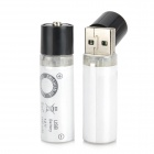 "USBBATT USB Rechargeable 1.2V ""1450mAh"" NiMH AA Batteries - Black + White (2 PCS)"