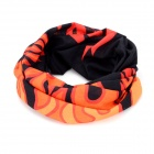 Multifunction Outdoor Sports Bicycle Cycling Seamless Head Scarf - Black + Orange