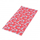 Multifunction Outdoor Sports Bicycle Cycling Seamless Head Scarf - Red + White + Grey