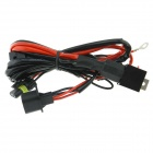 H13 Car HID Relay Cable Wiring Harness - Black + Red (145cm)
