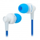 ES-700M In-Ear Earphone w/ Earbuds for Iphone 3gs / 4 / 4S - Blue + White (3.5mm Plug / 125cm)