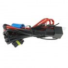 9007 Car HID Relay Cable Wiring Harness - Black + Red (145cm)