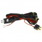 Waterproof H4 Xenon HID Relay Wiring Harness - Black + Red (145cm)