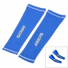 SCOTT Sports Cycling Bike Bicycle Oversleeves - Blue + White (Pair / Size M)