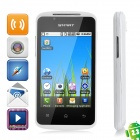 "C208 Android 2.3 GSM Bar Phone w/ 3.5"" Capacitive Screen, Dual-Band, Wi-Fi and Dual-SIM - White"
