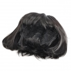 ZX-9974 2# Fashion Lady's Short Natural Straight Hair Wig - Black