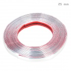 Bodywork PVC Decoration Strip for Car - Silver (15m-Length / 25mm-Width)