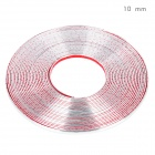 Bodywork PVC Decoration Strip for Car - Silver (15m-Length / 10mm-Width)