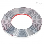 Bodywork PVC Decoration Strip for Car - Silver (15m-Length / 15mm-Width)