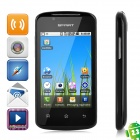 "C208 Android 2.3 GSM Bar Phone w/ 3.5"" Capacitive Screen, Dual-Band, Wi-Fi and Dual-SIM - Black"