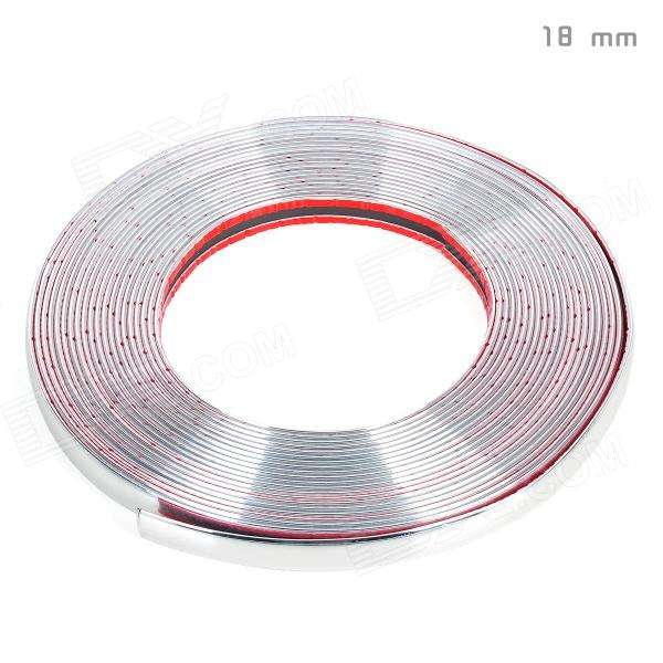 Bodywork PVC Decoration Strip for Car - Silver (15m-Length / 18mm-Width) - DXCar Stickers<br>Soft PVC material - Length: 15m - Width: 18mm - Can be used on bodywork of the car - With adhesive tape - Elegant design match well with your cars<br>