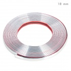Bodywork PVC Decoration Strip for Car - Silver (15m-Length / 18mm-Width)