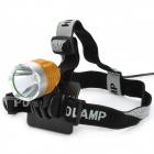 600lm 3-Mode White Light Headlamp / Bicycle Light - Golden (4 x 18650)