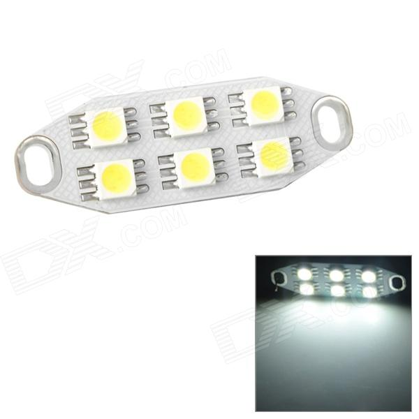 1.2W 146lm 6-SMD 5050 LED White Light Car Reading Lamp (12~17V) lx 3w 250lm 6500k white light 5050 smd led car reading lamp w lens electrodeless input 12 13 6v