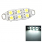 1.2W 146lm 6-SMD 5050 LED White Light Car Reading Lamp (12~17V)