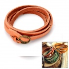 Genuine Cowhide Leather 2-in-1 Wristband Bracelet + Waistband - Brown (100cm)