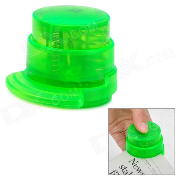 Mini Environmental Protection Stapleless Stapler - Green