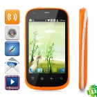"i667 Android 2.3 GSM Bar Phone w/ 3.5"" Capacitive Screen, Wi-Fi, Quad-Band and Dual-SIM - Orange"