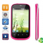 "i667 Android 2.3 GSM Bar Phone w/ 3.5"" Capacitive Screen, Wi-Fi, Quad-Band and Dual-SIM - Deep Pink"