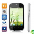 "i667 Android 2.3 GSM Bar Phone w/ 3.5"" Capacitive Screen, Wi-Fi, Quad-Band and Dual-SIM - White"