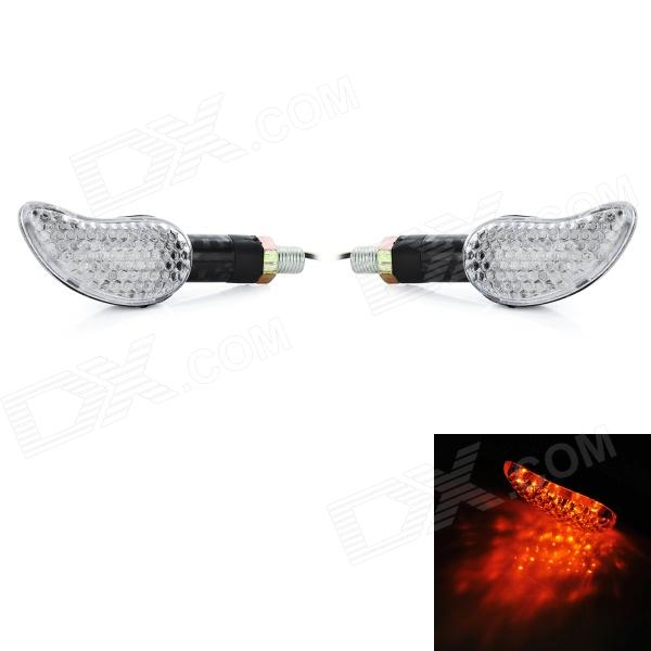 1W 240lm 15-LED Warm White Light Motorcycle Car License Plate Lamp with Cover Case (Pair / 12V)