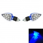 Heart Shaped 1W 80lm 9-LED Blue Light Motorrad-Steering-Lampe - Blue (12V / 20cm / 2 PCS)
