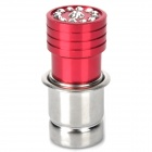 Metal Auto Car Cigarette Lighter with Imitation Diamond - Wine Red + Silver (12V / 24V)