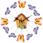 HOMEXW Stylish Cabin and Butterfly Style Ultra-Silent Clock (1 x AA)