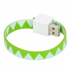 Bracelet Style Micro USB Male to USB Male Data Charging Flat Cable - Green (18cm)