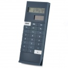 "1.5"" LCD Display Solar Powered 10-Digit LCD Pocket Calculator - Grey + Black"