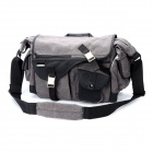 DEBO 180 Multi-Pocket Canvas Kamera Shoulder Bag - Grey + Schwarz