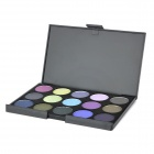 Tragbare 15-Farbe Cosmetic Makeup Smoky Eye Shadow - Cool Color