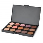 Portable 15-Color Cosmetic Makeup Eye Shadow Palette - Warm Earthy