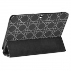 Checked Pattern Protective PU Leather Case for Samsung Galaxy Tab 2 10.1 P5100 - Black + White