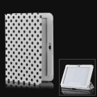 Polka Dot Style Protective PU Leather Case for Samsung Galaxy Tab 2 10.1 P5100 - White