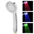 08-A10 Romantic 7 Colors Changing LED Shower Head - Silver