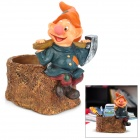 HOMEXW Dwarf Style Resin Pen Holder - Brown + Orange + Blue
