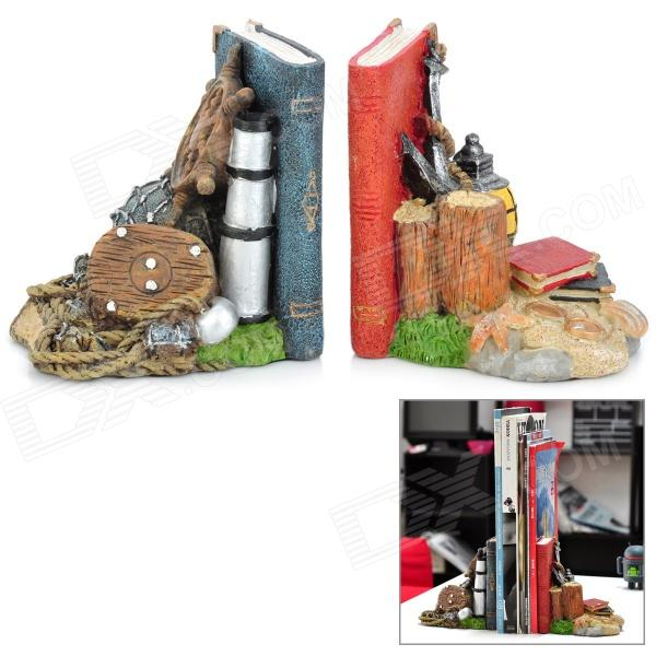 HOMEXW Cool Pirate Treasure Style Resin Bookends (2 PCS)