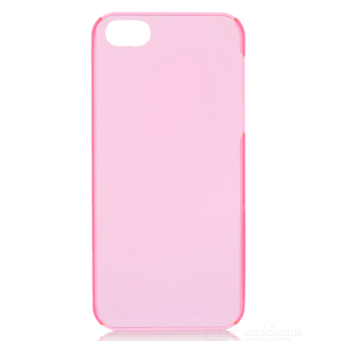 Ultra-thin Matting Protective Plastic Back Cover Case for Iphone 5 - Pink