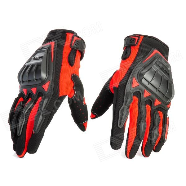 Scoyco MC08-L Full-Fingers Motorcycle Racing Gloves - Red + Black (Pair / Size L)