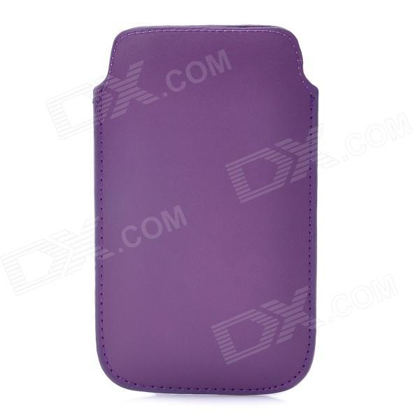 Protective PU Leather Pouch Case for Iphone 5 - Purple