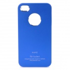 Aluminum Alloy Protective Back Cover Case for iPhone 4 / 4S - Blue