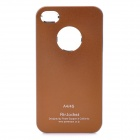 Aluminum Alloy Protective Back Cover Case for iPhone 4 / 4S - Brown