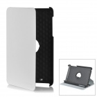 Protective Swivel 360 Degree Rotating PU Leather Case for Google Nexus 7 - White + Black