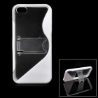 Protective TPU Back Case with Holder for iPhone 5 - White