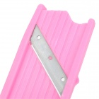 Resin + Stainless Steel Makeup Cucumber Slices Cutter w/ Mirror - Pink