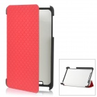 Stylish Protective PU Leather Case for Google Nexus 7 - Red
