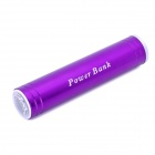 Externe 2200mAh Notfall-Ladegerät w / White Flashlight for iPhone / Handy - Purple